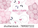 cute wedding invitation with... | Shutterstock .eps vector #789007222