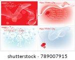 four festive backgrounds for... | Shutterstock .eps vector #789007915