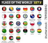 all flags of the world set 8 ....   Shutterstock .eps vector #789008842