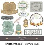 label scrap booking sticker set ... | Shutterstock .eps vector #78901468
