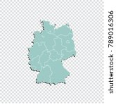 germany map   high detailed... | Shutterstock .eps vector #789016306