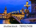 pont alexandre iii  alexander... | Shutterstock . vector #789017458