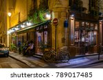 night view of cozy street with... | Shutterstock . vector #789017485