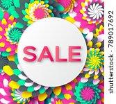 abstract  spring summer sale... | Shutterstock . vector #789017692