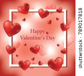 happy valentine's day greeting...   Shutterstock .eps vector #789017818
