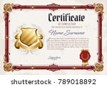 certificate of completion... | Shutterstock .eps vector #789018892