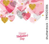valentine's day abstract... | Shutterstock .eps vector #789020386