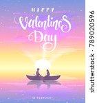 romantic silhouette of loving...