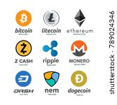 worldwide crypto currency... | Shutterstock .eps vector #789024346
