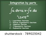 integration by parts math on... | Shutterstock .eps vector #789025042