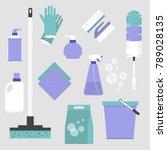 household chores. set of... | Shutterstock .eps vector #789028135