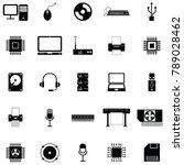 computer hardware icon set | Shutterstock .eps vector #789028462
