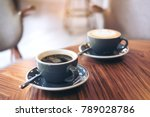 closeup image of two blue cups... | Shutterstock . vector #789028786