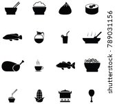 chinese food icon set | Shutterstock .eps vector #789031156