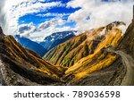 mountain view range landscape.... | Shutterstock . vector #789036598