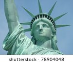 Statue Of Liberty  Head Detail
