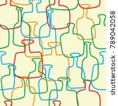abstract bottle seamless... | Shutterstock .eps vector #789042058