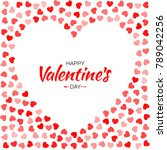 valentines day card design.... | Shutterstock .eps vector #789042256