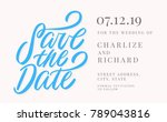 save the date. invitation... | Shutterstock .eps vector #789043816