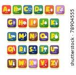 complete 26 vector of alphabet... | Shutterstock .eps vector #78904555