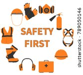 occupational safety and health... | Shutterstock .eps vector #789050146