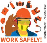occupational safety and health... | Shutterstock .eps vector #789050152