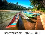 local wood boats tourists...   Shutterstock . vector #789061018