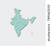 india map   high detailed... | Shutterstock .eps vector #789062035