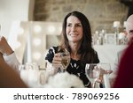 mother of the bride is raising... | Shutterstock . vector #789069256