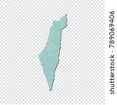 israel map   high detailed... | Shutterstock .eps vector #789069406