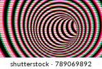 black and white hypnotic spiral....   Shutterstock . vector #789069892