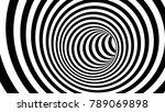 Black And White Hypnotic Spiral....