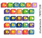 another cube of 26 alphabet... | Shutterstock .eps vector #78907108