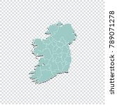 ireland map   high detailed... | Shutterstock .eps vector #789071278