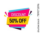 discount fifty percent origami... | Shutterstock .eps vector #789071896