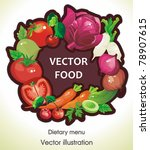 abstract elegance food...   Shutterstock .eps vector #78907615