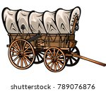wild west style wood covered... | Shutterstock .eps vector #789076876
