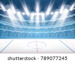 ice hockey stadium with... | Shutterstock .eps vector #789077245