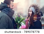 picture showing young couple... | Shutterstock . vector #789078778