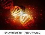 2d render of dna structure ...   Shutterstock . vector #789079282