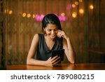 an attractive and young indian... | Shutterstock . vector #789080215