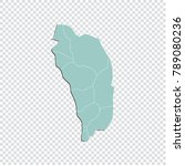 dominica map   high detailed... | Shutterstock .eps vector #789080236