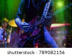 guitarist playing on electric... | Shutterstock . vector #789082156
