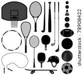 sport equipment tool basketball ... | Shutterstock .eps vector #78908422