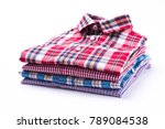 Stack Of Various Plaid Men\'s...