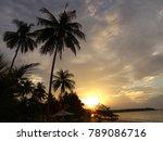 sunset at the beach of khao... | Shutterstock . vector #789086716