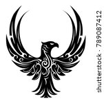 tribal tattoo design with... | Shutterstock .eps vector #789087412