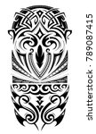 maori style design for sleeve... | Shutterstock .eps vector #789087415