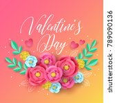 valentines day greeting card... | Shutterstock .eps vector #789090136