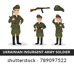 a man in the military uniform... | Shutterstock .eps vector #789097522